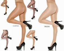 NYLONZ Gloss Sheer to Waist Tights / Pantyhose - 6 Pair Value Pack